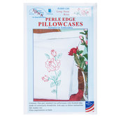 Long Stem Rose Perle Edge Pillowcases
